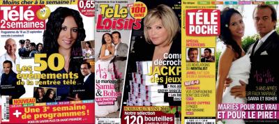 PRESSE: Retrouvez Fabienne dans Télé2semaines TéléLOISIRS TéléPOCHE TéléSTAR et TVgrandesChaînes