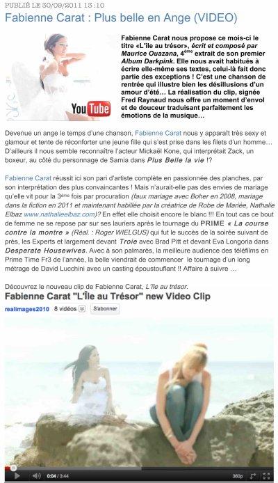 """NOUVEAU CLIP : 4ème Extrait du 1er album DarkPink de Fabienne CARAT: """"L'ÎLE AU TRÉSOR"""""""
