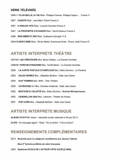 CV FABIENNE CARAT ARTISTE-INTERPRÊTE
