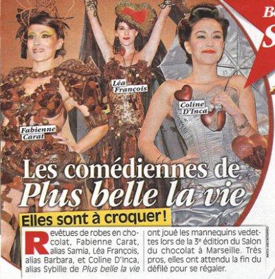Dans TÉLÉSTAR cette semaine... Fabienne a défilé au SALON DU CHOCOLAT