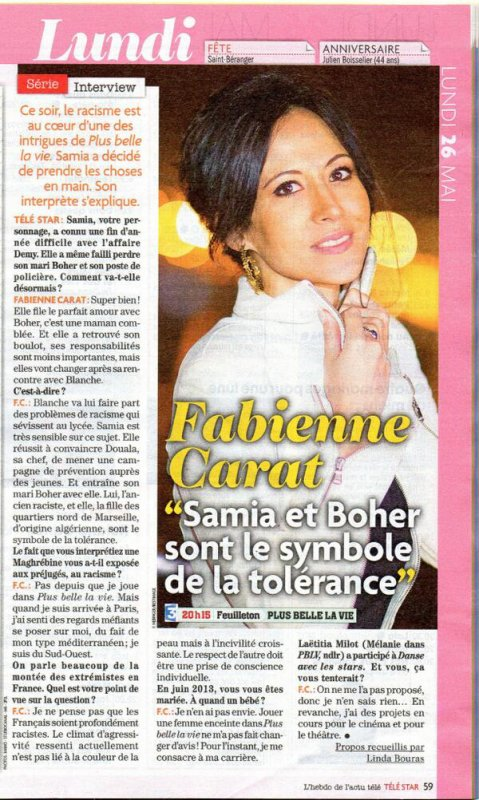 Presse MAI 2014: Fabienne CARAT dans Télé7jours, TéléStar ... ACTU CINE et TÉLÉ !