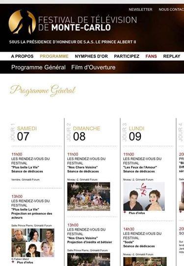 Programme FESTIVAL DE MONTE-CARLO 7 et 8 Juin 2014 !
