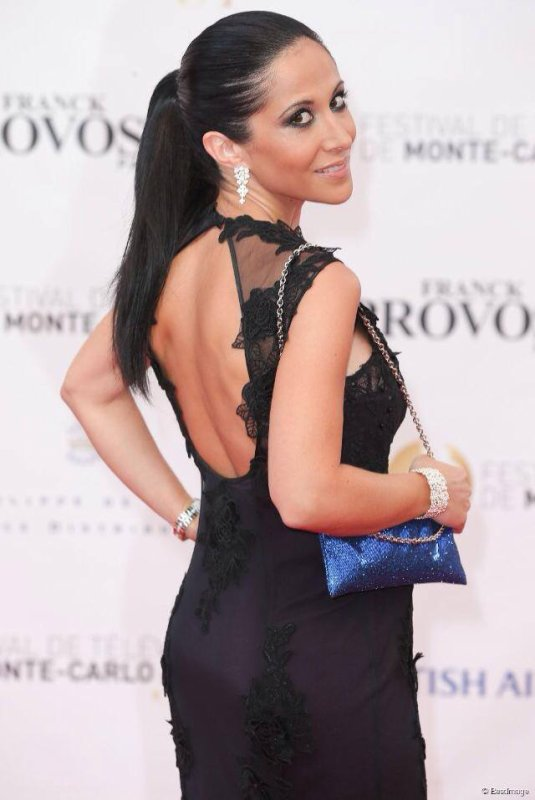 Fabienne Carat sur le Tapis rouge du Festival International de Monte-Carlo