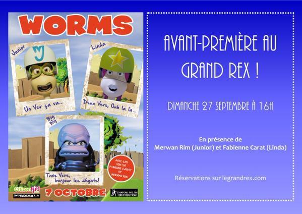 """AVANT-PREMIÈRE """"WORMS"""" au GRAND REX Dimanche 27 septembre 2015 à 16h00 !!!"""