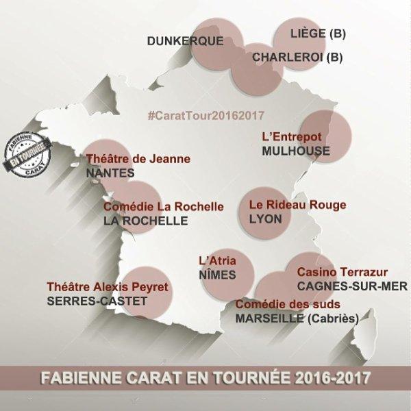 Fabienne Carat la tournée 2016/2017