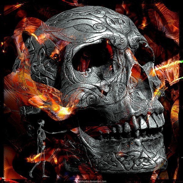 L Tete De Mort En Feu L Blog De Tete De Mort Dragon Gothique Rock
