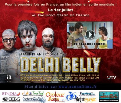 "Bollywood - Sortie de ""Delhi Belly"" en France"