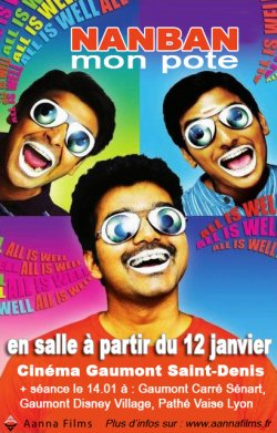 Sortie Kollywood/Pongal : NANBAN (MON POTE) au cinéma en France