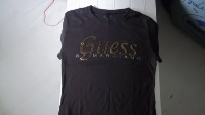 t shirt guess marron