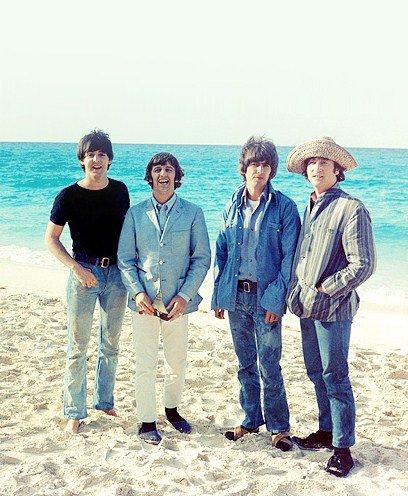 Les Beatles sur le tournage de Help !