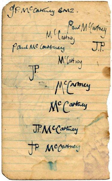 Premières signatures de Paul...