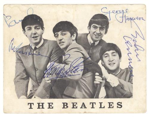 Autographes des Beatles