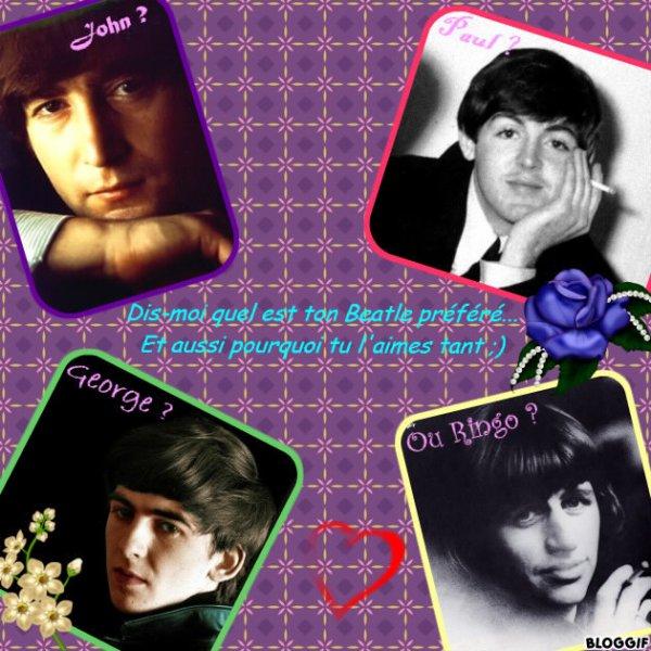 Quel est votre Beatle favori ?