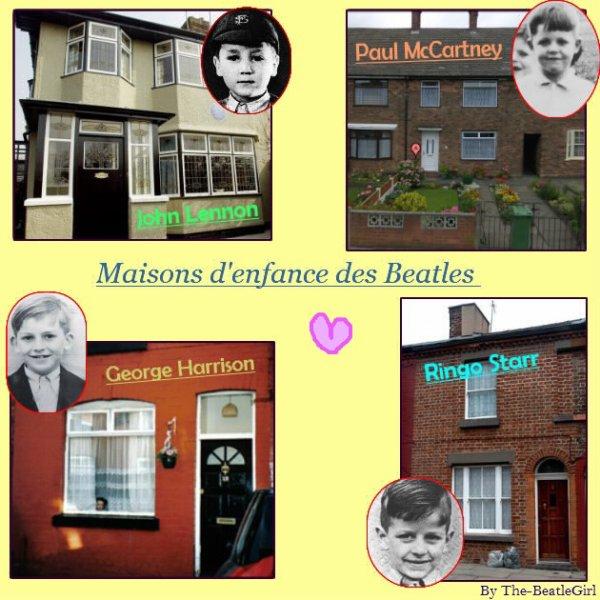 Maisons d'enfance des Beatles