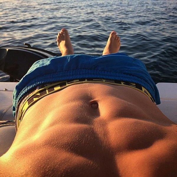 Posé sur un bateau cet été ....