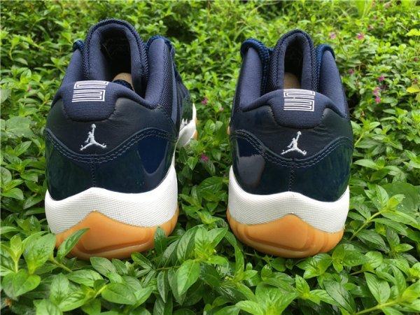 "Air Jordan 11 Low ""Navy Gum"" Men Basketball shoes us size 8-13"