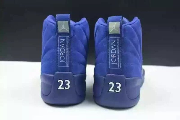 "The Air Jordan 12 ""Blue Suede"" men basketball shoes us size 8-13"