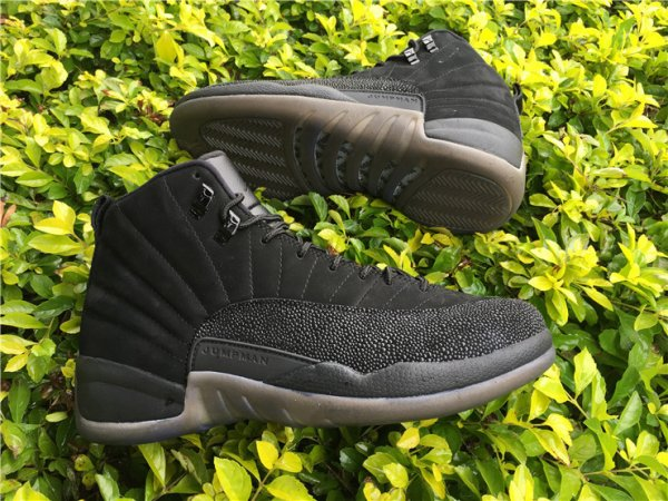 Air Jordan 12 OVO Black Men's Basketball Shoes