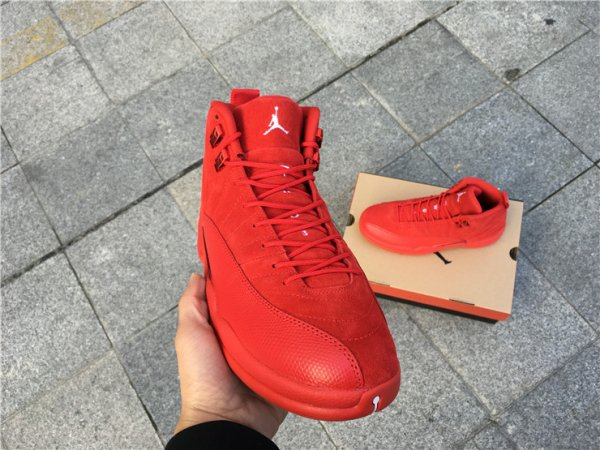 Air Jordan 12 'Red Suede' Men's Basketball Shoes