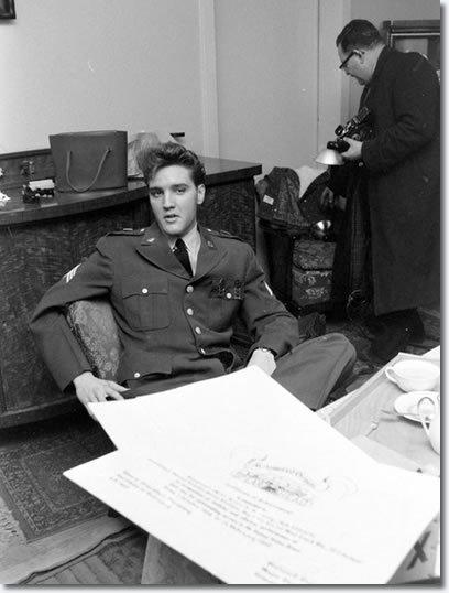 Photos : Le sergent d'Elvis Presley Allemagne Lundi 29 Février, 1960
