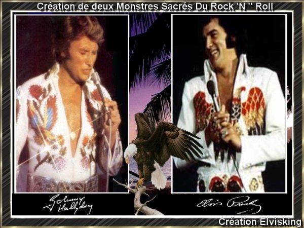 "Création de Elvis Presley par Elvisking  deux Monstres Sacrés Du Rock 'N "" Roll"