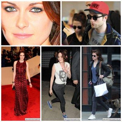 Kris à un gala à New York, ainsi qu'à l'aéroport avec Rob...