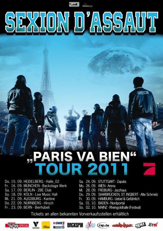 Sexion d'Assaut - Paris Va Bien Tour 2011