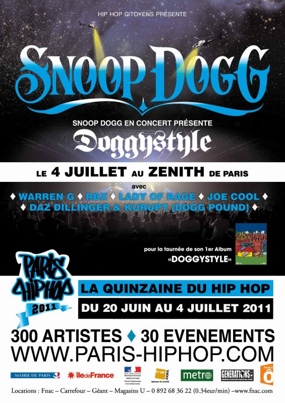 Snoop Dogg - Doggystyle Zenith de Paris