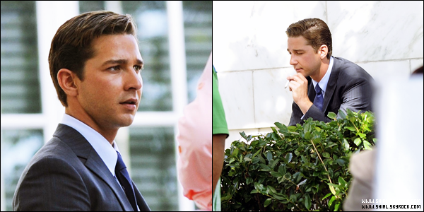 .11 Octobre 2010 : Shia sur le tournage de Transformers 3 à Washington, D.C + le titre officiel de Transformers 3 « Transformers : The Dark of the Moon ». .