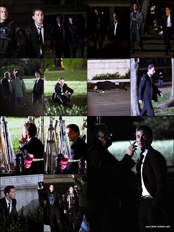 .11 Octobre 2010 : Shia et Josh Duhamel ont tourné une scène nocturne à l'extérieur et à l'interieur du célèbre Lincoln Memorial à Washington D.C  .