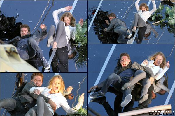 .9 Novembre 2010 : Shia et Rosie sur le tournage de Transformers 3  à Culver City. .