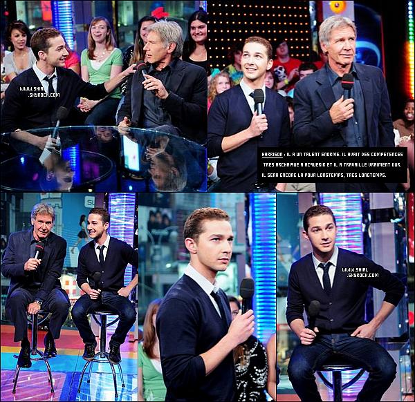 __♦ Apparition20 Mai 2008 : Shia et Harrison Ford étaient present dans les studios MTV de Times Square. .