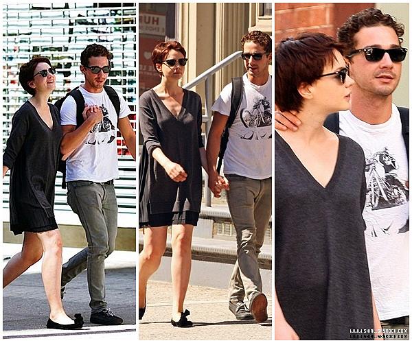 __♦ Candids02 Septembre 2009 : Shia et Carey on été vu se promenant à New York.