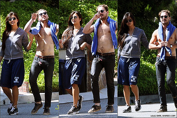__♦ Candids20 Mai 2011 : Shia et Karolyn se promenant dans les rues de Los Angeles, Californie.