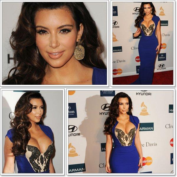 Le 11 février 2012 Kim Kardashian était présente au pré-Grammy  elle est tout simplement magnifique !!