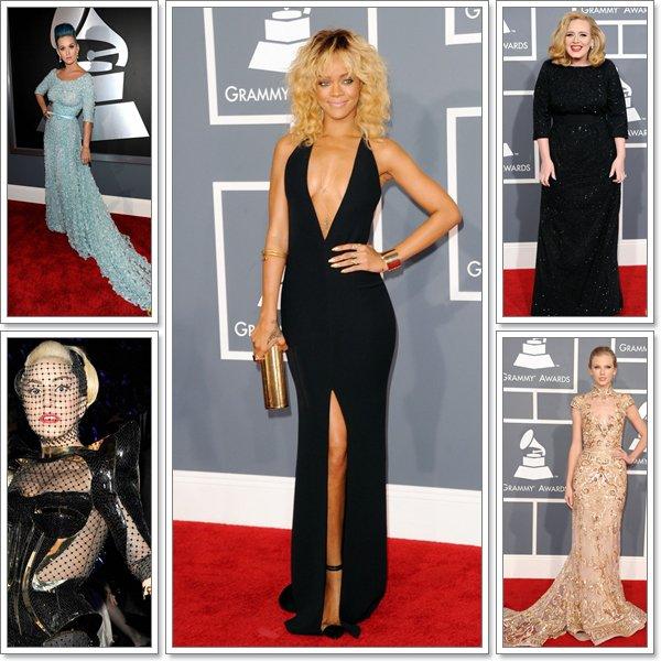 Le 12 février 2012 Katy Perry, Lady Gaga, Rihanna, Adele ou encore Taylor Swiftétaient présente aux Grammy Awards Elles étaient toutes splendides !!