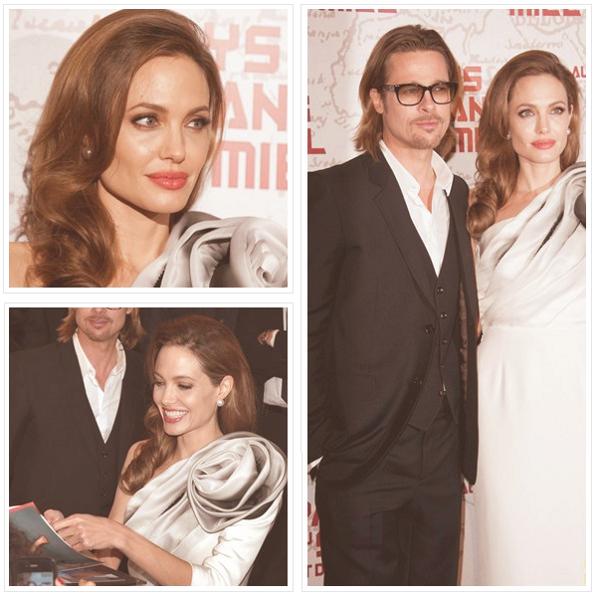 """Le 16 février 2012 Angelina Jolie était à Paris pour l'avant première de son film """"Au pays du sang et du miel"""""""