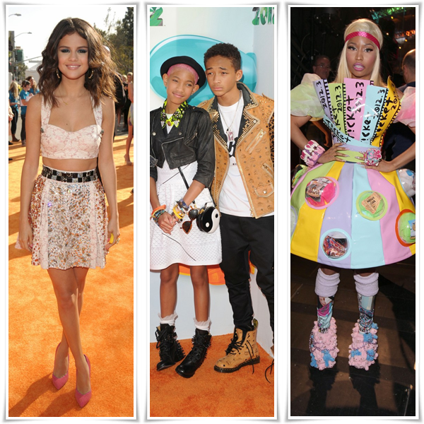 Le 31 mars 2012 Katy Perry, Kristen Stewart, Taylor Swift, Michelle Obama, Selena Gomez, Jaden et Willow Smith (& leurs parents) ou encore Nicki Minaj était présent au Kids' Choice Award 2012