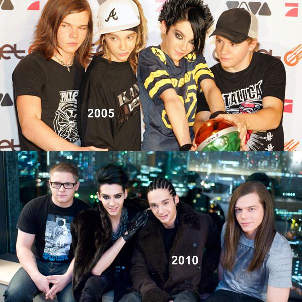 Vous avez déjà tous entendu parler de ce groupe de rock : Tokio Hotel. Ils est composé de Bill Kaulitz (le chanteur), de son frère jumeau Tom ( le guitariste), de Gustav Schäfer (le batteur) et de Georg Listing (le bassiste). Comme vous pouvez le constater, ils ont bien changer !!
