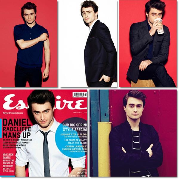 Voici Daniel Radcliffe posant pour le magazine Esquire