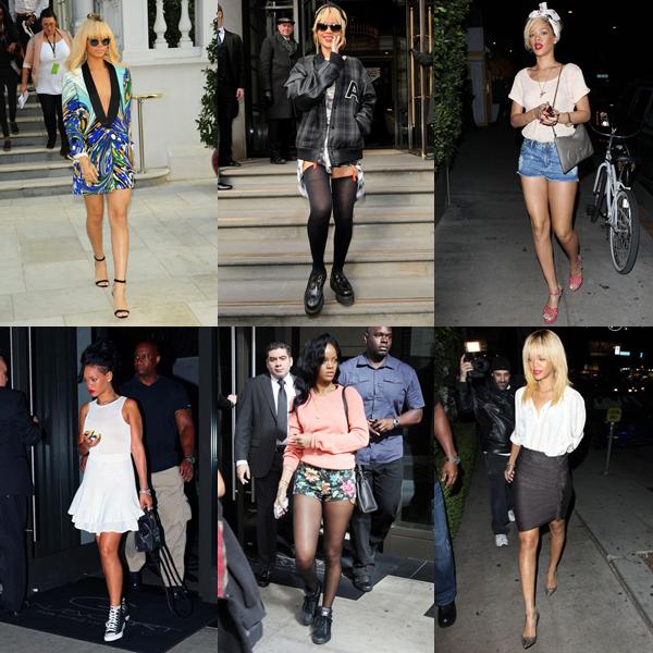 Cette fois-ci l'évolution sera sur Mademoiselle Rihanna. Comme tout le monde, elle a bien changer !