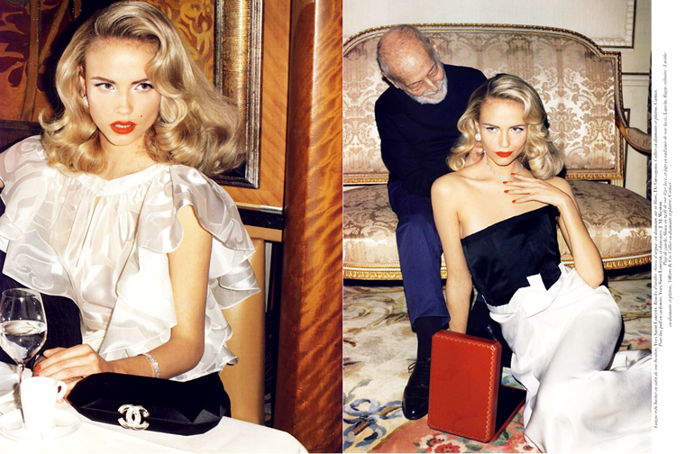 Natasha Poly for Vogue Paris, February 2008, photographed by Terry Richardson