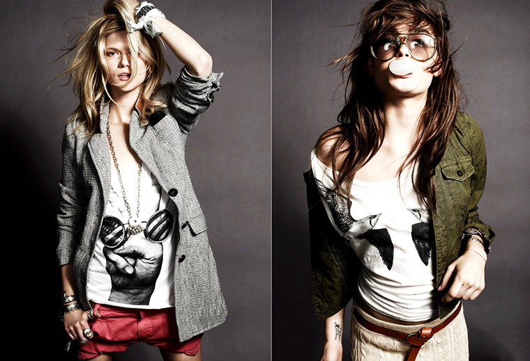 Kasia Struss & Bambi Northwood-Blyth for SET's Spring 2012 Lookbook