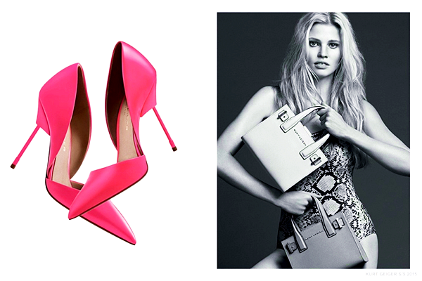 Lara Stone for Kurt Geiger, Spring/Summer 2015, photographed by Erik Torstensson