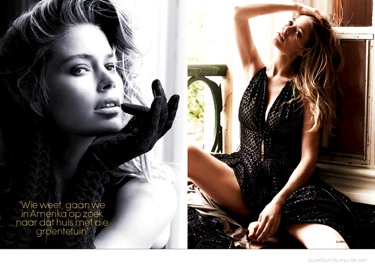 Doutzen Kroes for Glamour Netherlands, February 2015, photographed by Paul Bellaart