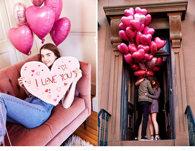 Ali Michael and her boyfriend for Urban Outfitters' Valentine's Day