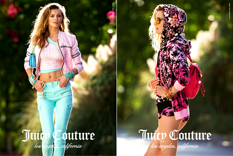 Edita Vilkeviciute for Juicy Couture, Spring/Summer 2015, photographed by Hans Feurer