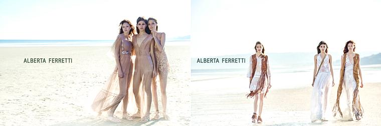 Alisa Ahmann, Natalie Westling, Valery Kaufman for Alberta Ferretti, Spring/Summer 2015, photographed by Peter Lindbergh