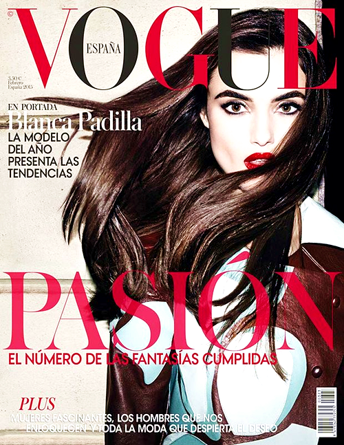 Blanca Padilla for Vogue Spain, February 2015, photographed by Matt Erwin
