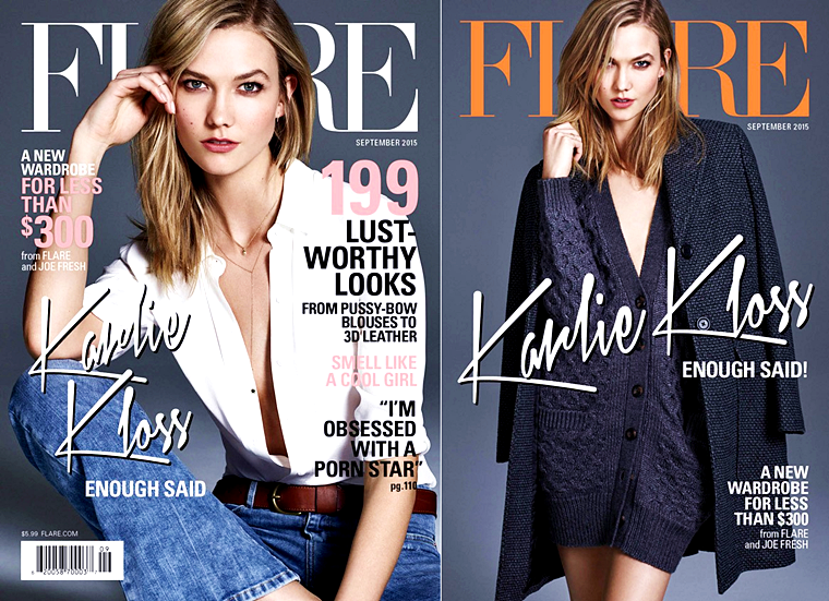 Karlie Kloss for Flare, September 2015, photographed by Nino Munoz